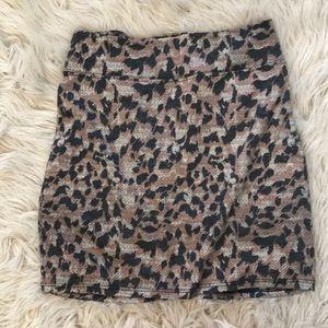 Leopard print mini skirt